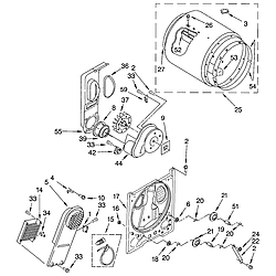 Bulkhead Parts Thumb on Kenmore 110 Dryer Schematic