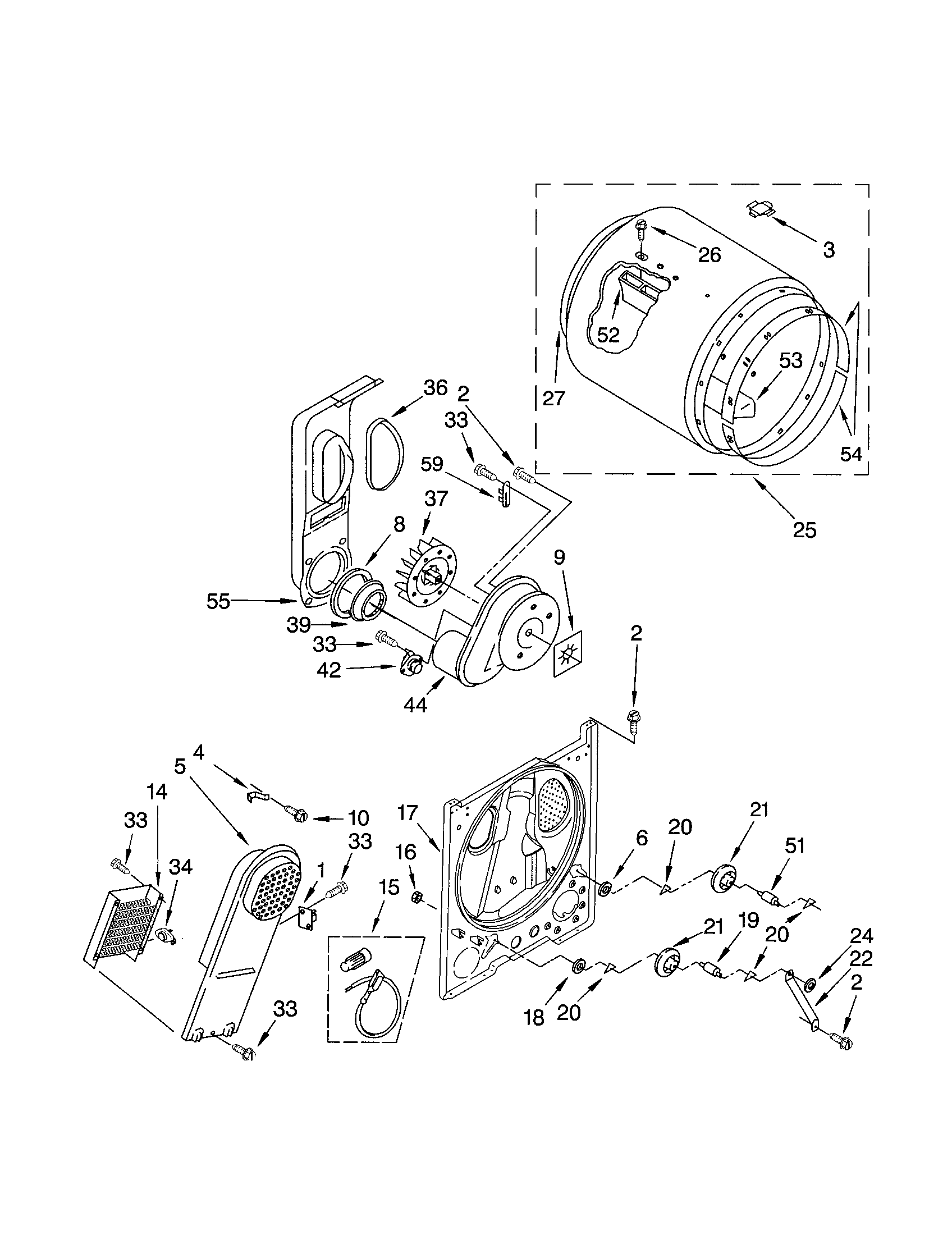 11062622101 electric dryer bulkhead parts diagram