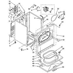 11062622101 Electric Dryer Cabinet Parts diagram
