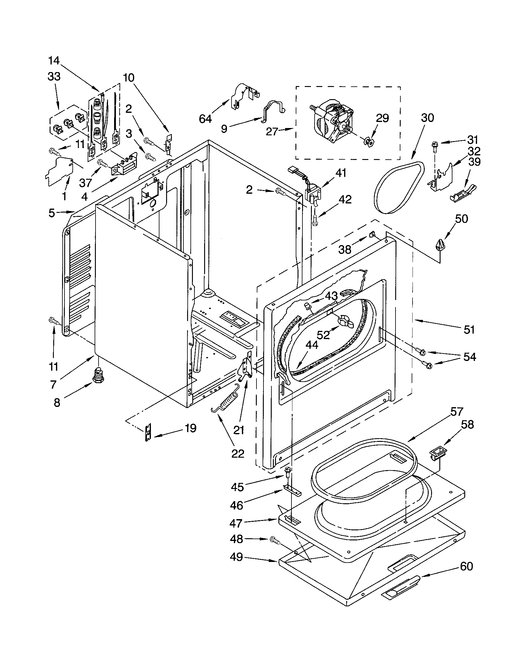 Wiring Diagram For Kenmore Electric Dryer - Diagrams Catalogue on