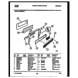 3038602304 Range - Gas Backguard Parts diagram
