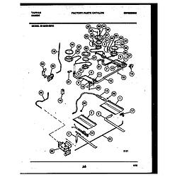 3038602304 Range - Gas Burner, manifold and gas control Parts diagram