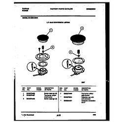 3038602304 Range - Gas Burner Parts diagram