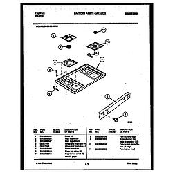 3038602304 Range - Gas Cooktop Parts diagram