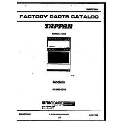 3038602304 Range - Gas Cover page Parts diagram
