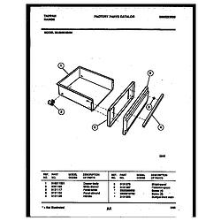 3038602304 Range - Gas Drawer Parts diagram