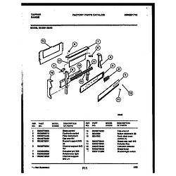 3039910003 Range - Gas Backguard Parts diagram
