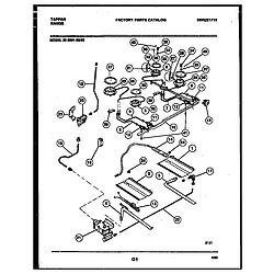 3039910003 Range - Gas Burner, manifold and gas control Parts diagram