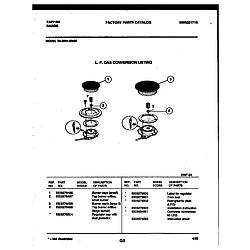 3039910003 Range - Gas Burner Parts diagram