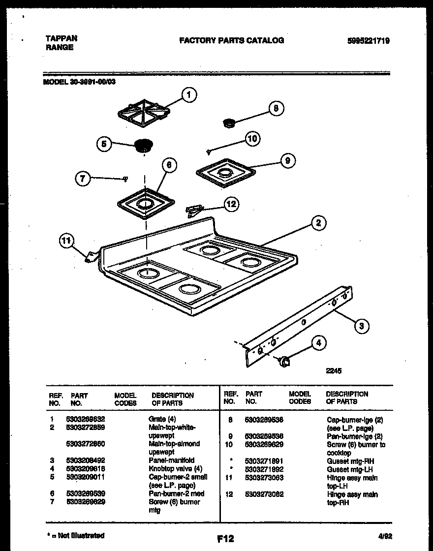 tappan 3039910003 range gas timer stove clocks and appliance timers rh appliancetimers ca Understanding Electric Motor Wiring Diagrams Appliance Parts Schematics