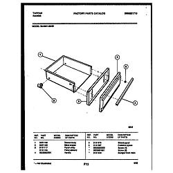 3039910003 Range - Gas Drawer Parts diagram