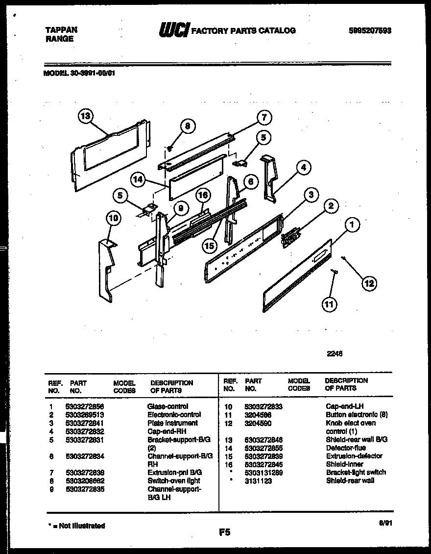 tappan 3039912303 range - gas timer