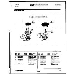 3039912303 Range - Gas Burner Parts diagram
