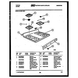 3039912303 Range - Gas Cooktop Parts diagram