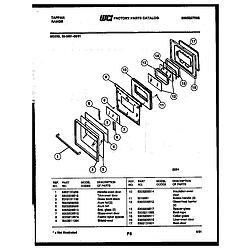 3039912303 Range - Gas Door Parts diagram