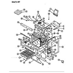 34JN5TKVW Range Body Parts diagram