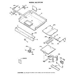 3627391594 Gas Range Burner section Parts diagram