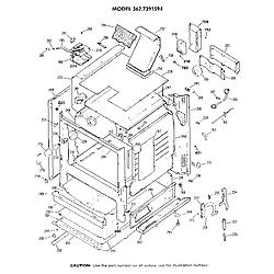 3627391594 Gas Range Cabinet Parts diagram