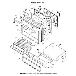 3627391594 Gas Range Door Parts diagram