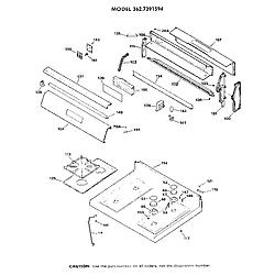 3627391594 Gas Range Main top section Parts diagram