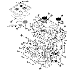 38HK6TXW Range Body Parts diagram