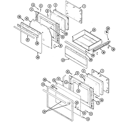 38HK6TXW Range Door/drawer Parts diagram