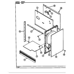54FN5TKVW Range Body (54f-5tkxw) (54f-5tkxw) Parts diagram