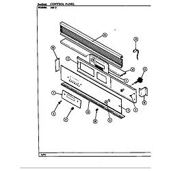 54FN5TKVW Range Control panel (54f-5tkxw) (54f-5tkxw) Parts diagram