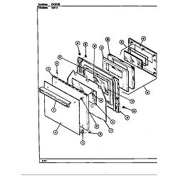 54FN5TKVW Range Door (54fk-5txw) (54fn-5tkvw) (54fn-5tkxw) (54fn-5tvw) (54fn-5txw) Parts diagram