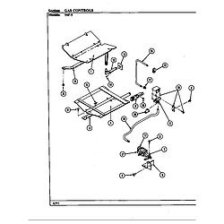 54FN5TKVW Range Gas controls (54fk-5txw) (54fn-5tkvw) (54fn-5tkxw) (54fn-5tvw) (54fn-5txw) Parts diagram