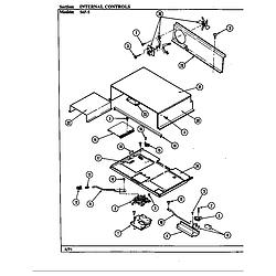 54FN5TKVW Range Internal controls (54fk-5txw) (54fn-5tkvw) (54fn-5tkxw) (54fn-5tvw) (54fn-5txw) Parts diagram
