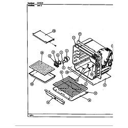 54FN5TKVW Range Oven (54f-5tkxw) (54f-5tkxw) Parts diagram