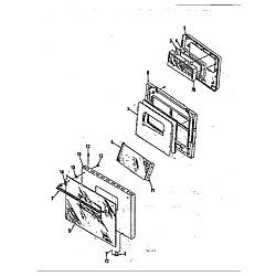 59E5EXW Range Door Parts diagram