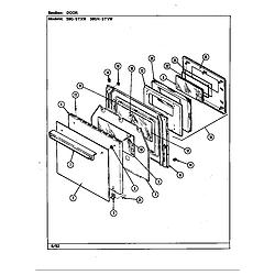 59GN5TVW Range Door Parts diagram
