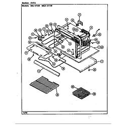 59GN5TVW Range Oven Parts diagram