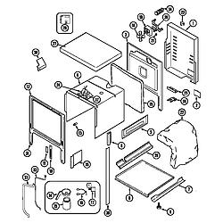 62946975 Range Body (series 12) Parts diagram