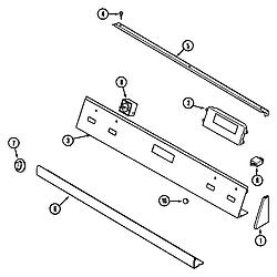 62946975 Range Control panel Parts diagram
