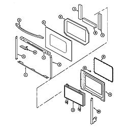 62946975 Range Door (series 12) Parts diagram