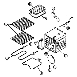 62946975 Range Oven Parts diagram