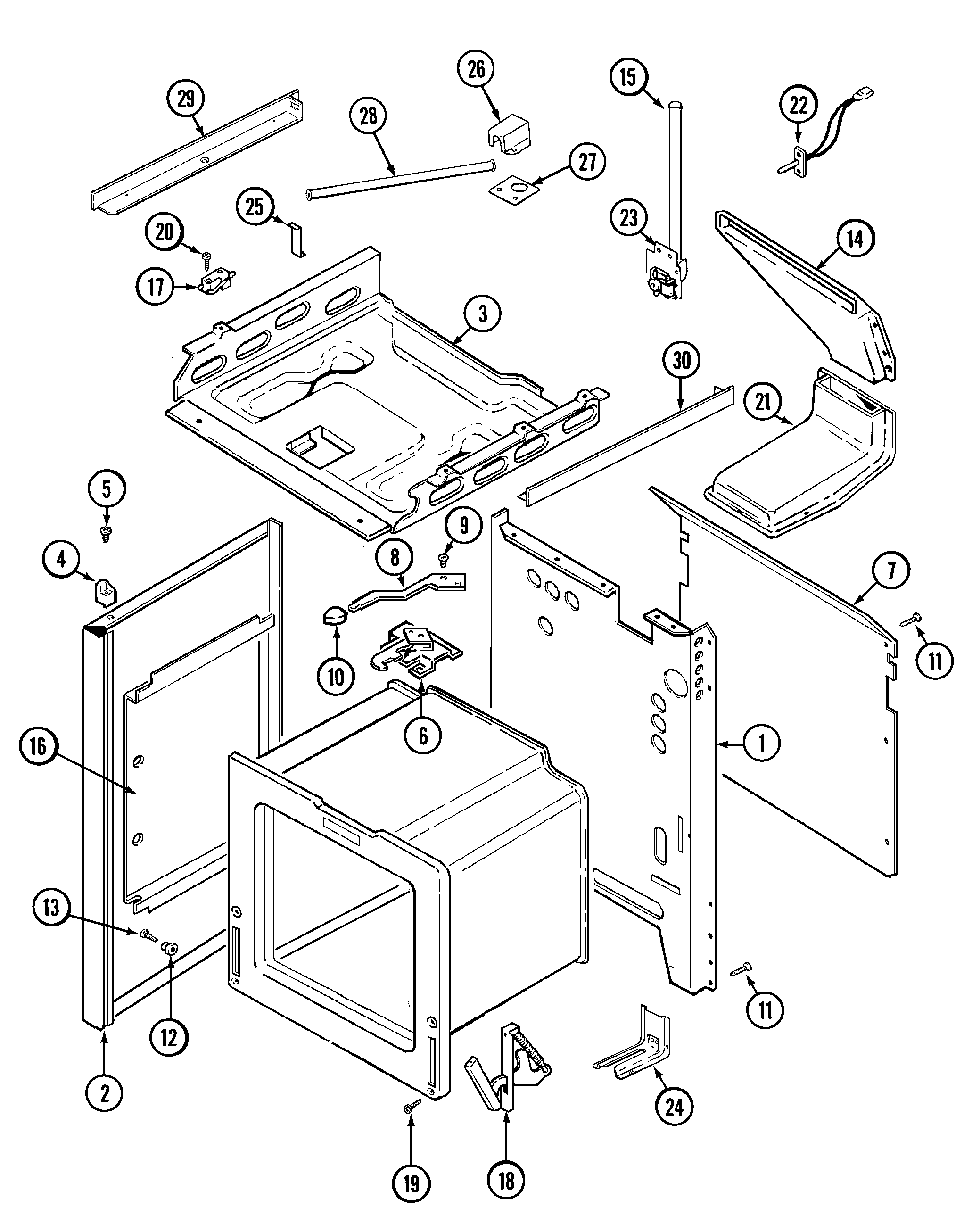 6498vtv gas range body parts diagram