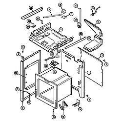 6498VVV Gas Range Body (6498vvd) (6498vvv) Parts diagram