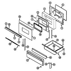 6498VVV Gas Range Door/drawer (6498vvd) (6498vvv) Parts diagram