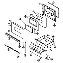 6498VVV Gas Range Door/drawer (ser. pre. 13) (6498vvd) (6498vvv) Parts diagram