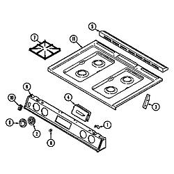 6498VVV Gas Range Top assembly (6498vvd) (6498vvv) Parts diagram