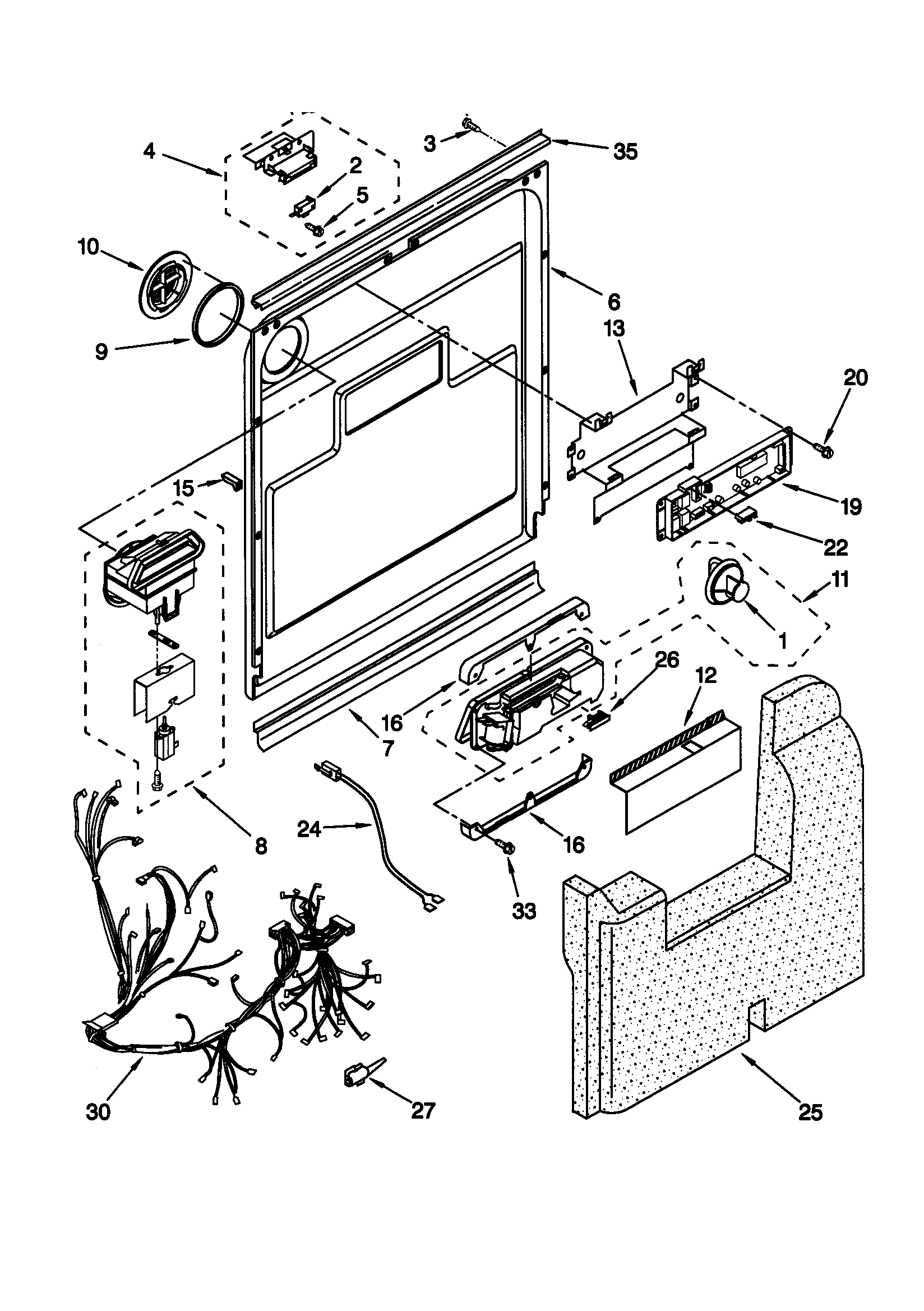 drain connections diagram and parts list for kenmore dishwasherpartskenmore 66515982990 timer stove clocks and appliance timers drain connections diagram and parts list for kenmore dishwasherparts