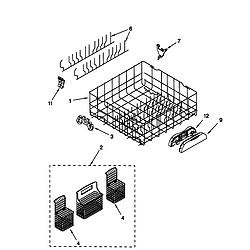 66515982990 Dishwasher Lower rack Parts diagram