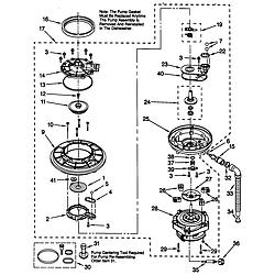 66515982990 Dishwasher Pump and motor Parts diagram