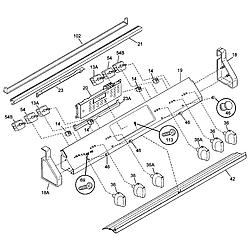 79046803993 Elite Electric Slide-In Range Back Parts diagram