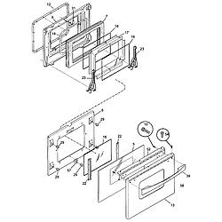 79046803993 Elite Electric Slide-In Range Door Parts diagram