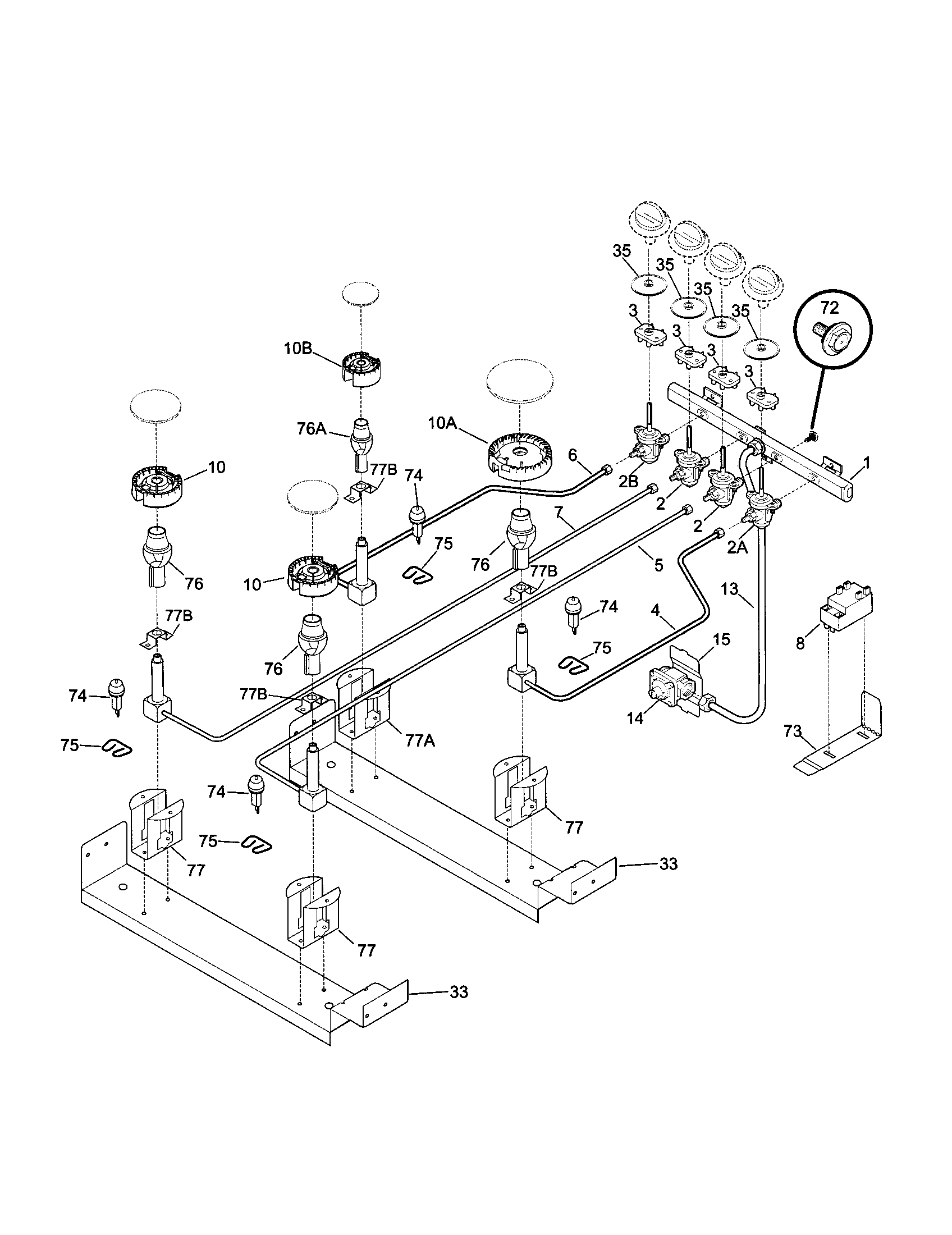 Kenmore 79046812991 Elite Dual Fuel Slide In Range Timer Stove Toro Wire Harness Burner Parts Diagram